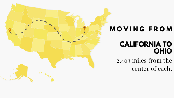 Moving: CA to Oh