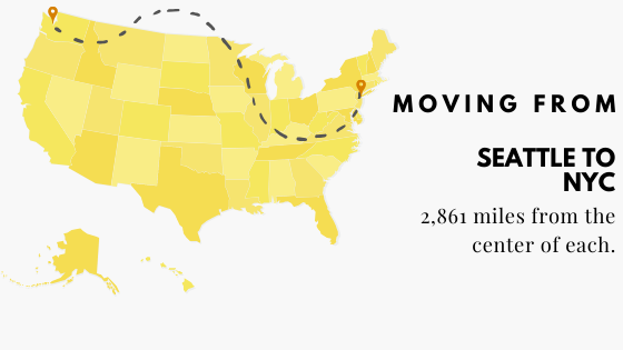 Moving to Seattle to New York City