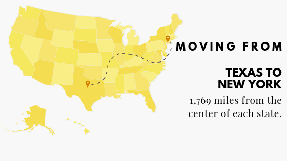 Moving to New York from Texas