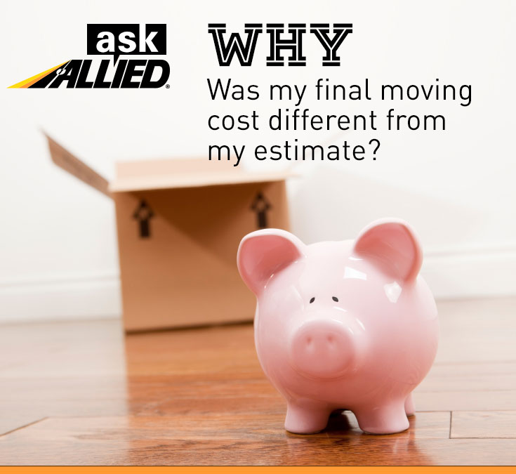 Why does moving cost change
